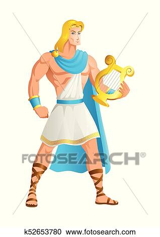 Greek God And Goddess Vector Illustration Series Apollo The Of Music Truth Prophecy Healing Sun Light Plague Poetry More