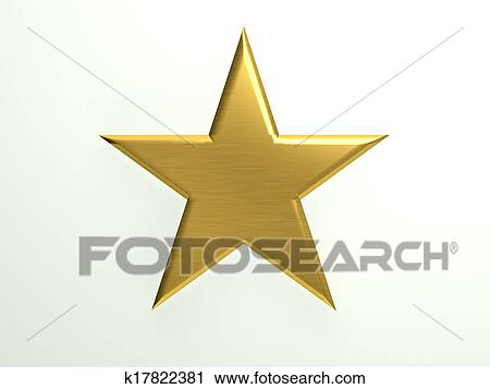 Clipart Of Gold Textured Star Icon K17822381 Search Clip Art