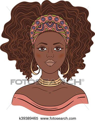 African Woman Portrait Clip Art