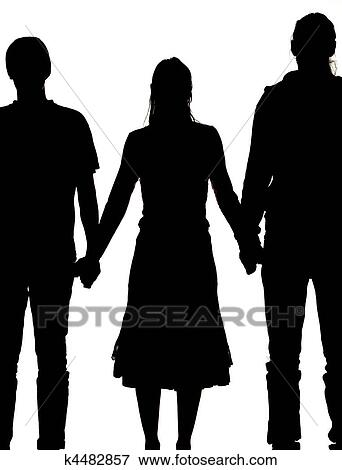 Two men and a woman