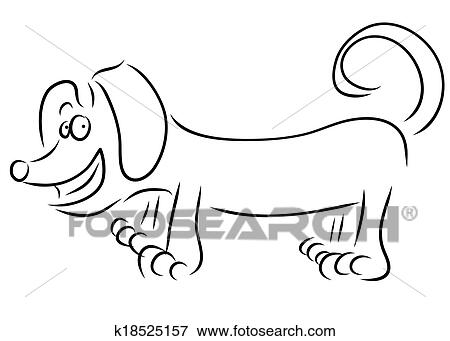 Clip Art Of Dachshund Dog K18525157