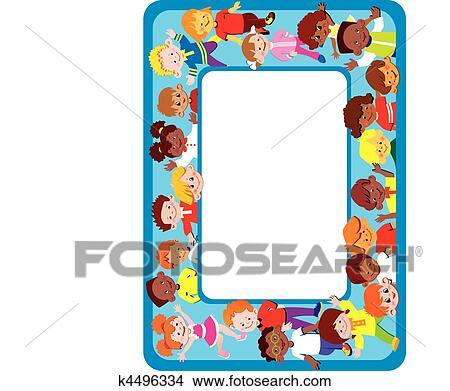 Clipart of Kids frame. k4496334 - Search Clip Art, Illustration ...