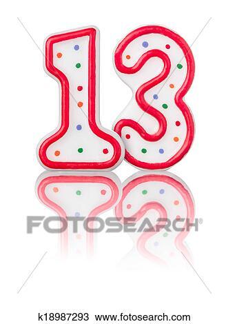 Disegno rosso numero 13 con riflessione su uno for Nombre 13 signification