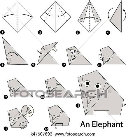 Origami Elephants - Page 1 of 5 | Gilad's Origami Page | 470x432