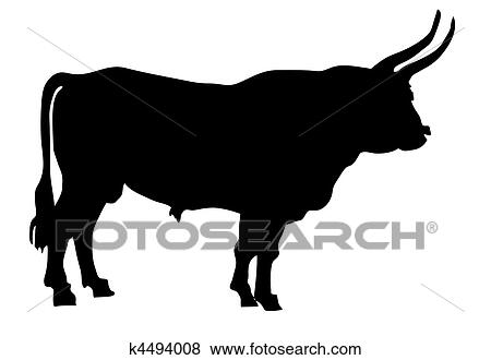 clip art of vector illustration of the oxen on white background rh fotosearch com musk oxen clipart oven clipart