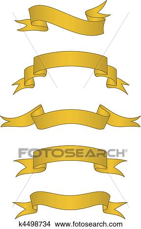 clipart of vector scroll banner set k4498734 search clip art