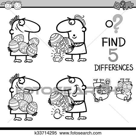 Clipart - diferencias, juego, libro colorear k33714295 - Buscar Clip ...