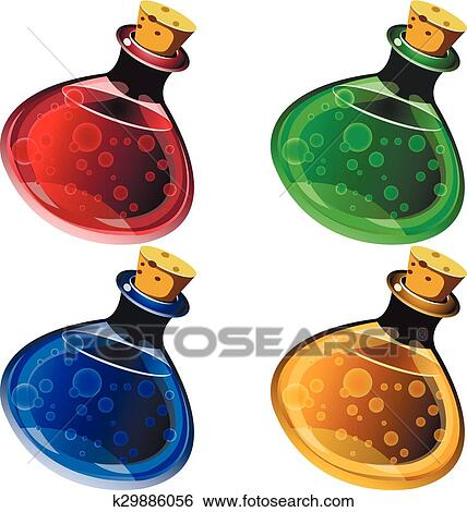 clip art of potion k29886056 search clipart illustration posters rh fotosearch com  potion bottle clipart