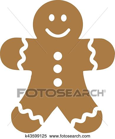 Clipart Of Smiling Gingerbread Man K43599125
