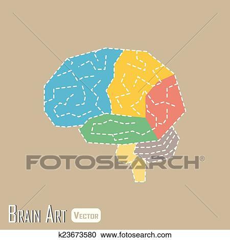 Clipart of Brain anatomy ( frontal lobe , parietal lobe , temporal ...