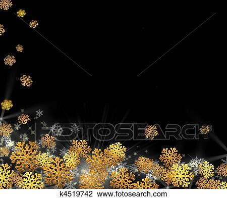 Christmas Background Christian.Christmas Background Gold Snowflakes On A Black Stock Image