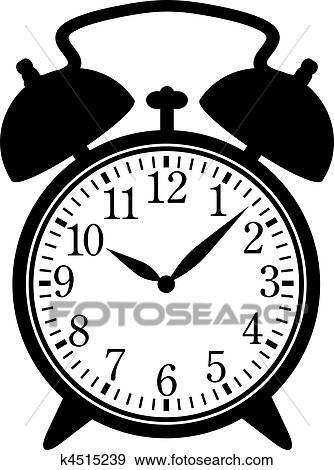 Clipart classique r veille matin k4515239 recherchez - Dessin reveil ...