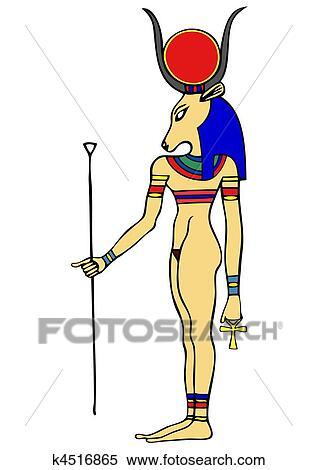 clipart deusa de egito antigo hathor k4516865 busca de
