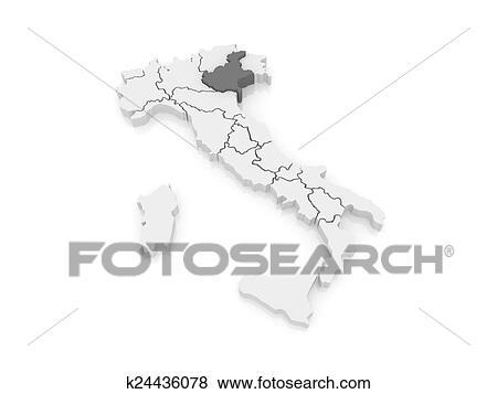 Stock Illustration Of Map Of Veneto Italy K24436078 Search Eps