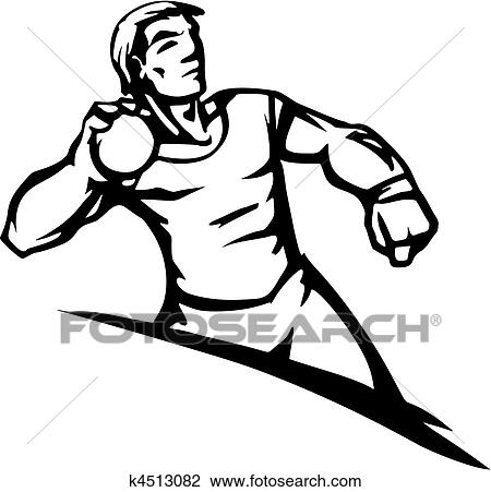 Clipart Of Track Field K4513082