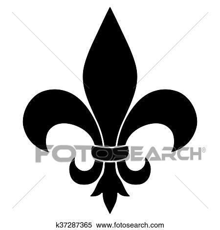 Stock Illustration Of Fleur De Lis K37287365 Search Clipart