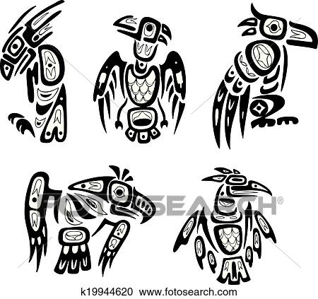 92d7acda8a449 Native indian shoshone tribal drawings. Eagles Clipart | k19944620 ...