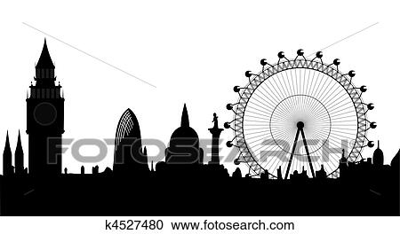 clipart of panorama of london vector k4527480 search clip art rh fotosearch com london clipart london phone booth clip art