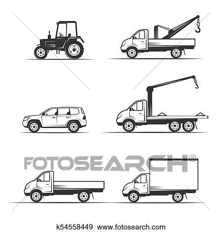 Heavy Duty Construction Equipment Vector Stock Vector (Royalty Free)  94254715