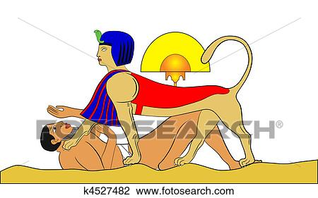 clipart of sphinx and failed puzzler vector k4527482 search clip rh fotosearch com sphinx clipart png egyptian sphinx clipart