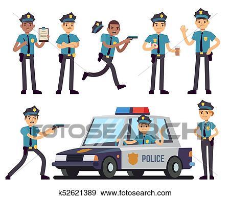 Caricatura Mujer Policia Y Policia Caracteres En Uniforme Policia Vector Conjunto Clip Art K52621389 Fotosearch Feliz día para mí gran maestro y profesor jesús allá en españa on cariño desde puno perú. caricatura mujer policia y policia caracteres en uniforme policia vector conjunto clip art