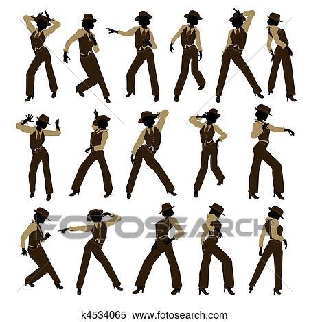 Female Jazz Dancer Silhouette Stock Illustration K4534065 Fotosearch