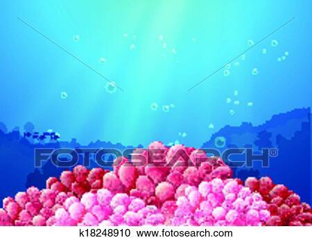 Rosa Coralli Sotto Il Mare Clipart K18248910 Fotosearch