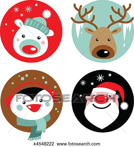 Clipart Of Christmas Characters K4548222 Search Clip Art