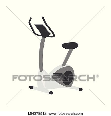 Exercise Bike Fitness Equipment Cartoon Vector Illustration Clipart K54378512 Fotosearch