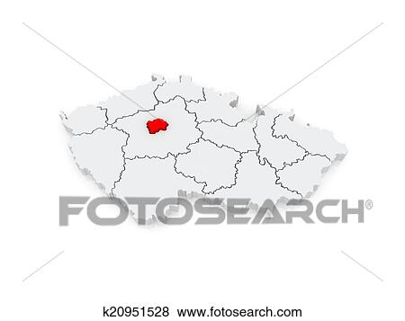 Map of Capital of Prague. Czech Republic. Stock Illustration ...