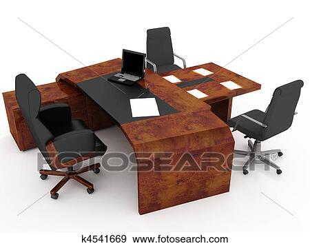 Stock Illustration - satz, von, büromöbel k4541669 - Suche Clipart ...