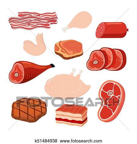 لحم خنزير مقدد جبان لحم خنذير مدخن اللحم من الخنزير Jamon Hamon رسم كاريكتوري Style سهم التوجيه Clip Art K51484938 Fotosearch