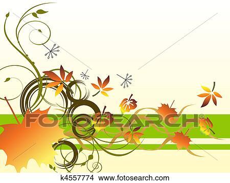 Clipart Herbst Geht K4557774 Suche Clip Art Illustration