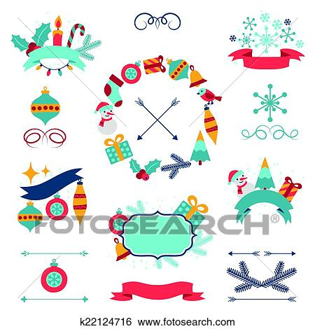 clip art merry christmas and happy new year banners decorations fotosearch