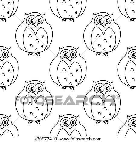 Owl Digital Stamp Clipart cute owl line art owl outline | Etsy