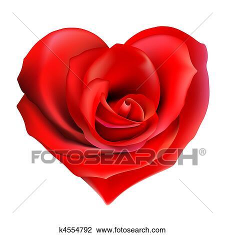 Rose Rouge Coeur Dessin