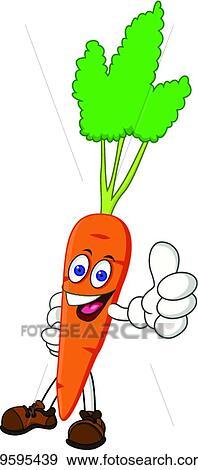 Clipart carotte dessin anim caract re k9595439 - Dessin de carotte ...