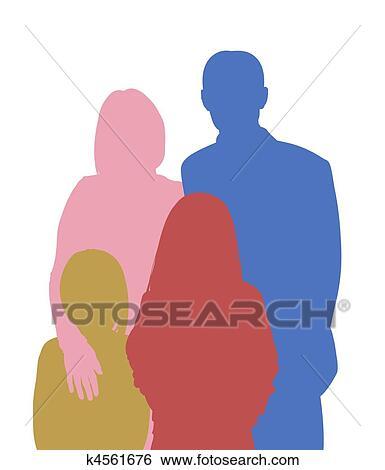 Family 4 Stock Illustration K4561676 Fotosearch