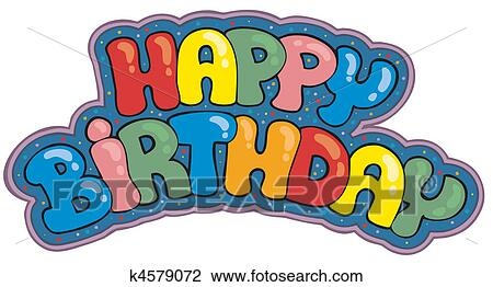 Clipart Alles Gute Geburtstag Zeichen K4579072 Suche Clip Art