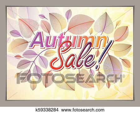 Autumn Horizontal Banner Design Vector Yellow And Red Leaves Floral Beautiful Background Autumn Sale Advertising Poster Brochure Or Flyer Design Stylish Classy Botanical Drawing Environment Clipart K59338284 Fotosearch