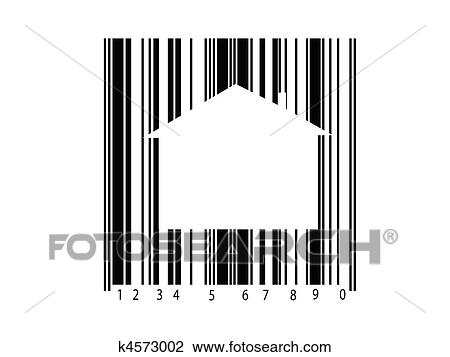 clip art of barcode k4573002 search clipart illustration posters