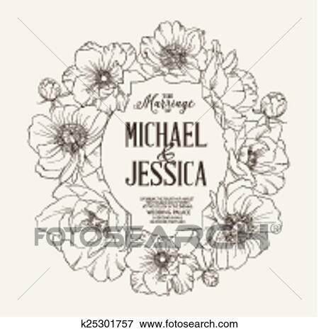 Bridal Shower Invitation Card Clip Art K25301757 Fotosearch