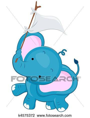 Cute Elephant Drawing K4575372 Fotosearch