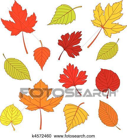 Clipart Herbst Geht Weiß K4572460 Suche Clip Art Illustration