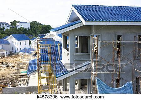 House Construction Clip Art : Stock images of housing construction site brunei k