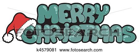 clipart merry christmas sign with hat fotosearch search clip art illustration murals