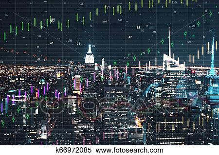 New York Stad Met Forex Behang Stock