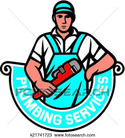 clipart of plumbing services k21741723 search clip art rh fotosearch com plumbing clip art images for flyers plumbing and heating clipart