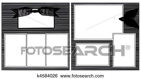 stock image black ribbon scrapbook frame template fotosearch search stock photography poster