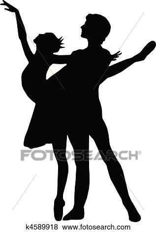 clip art of dancing couples silhouettes k4589918 search clipart